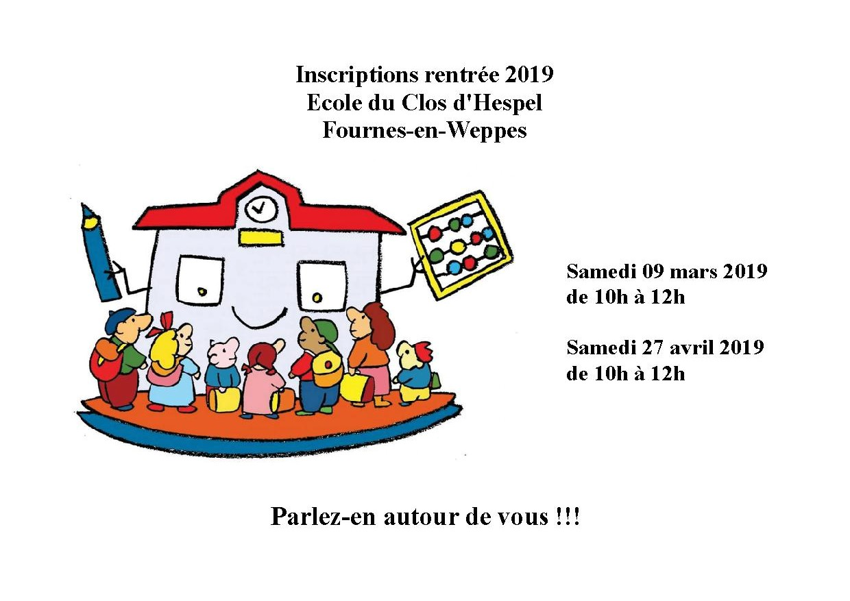 Affiche inscriptions 2019