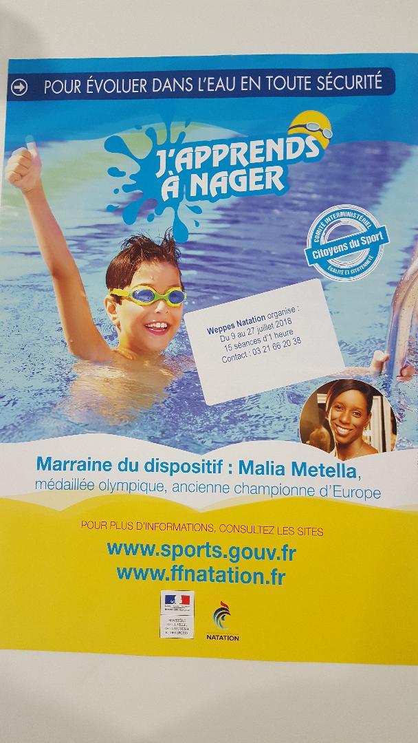 J 39 apprends a nager for Piscine des weppes